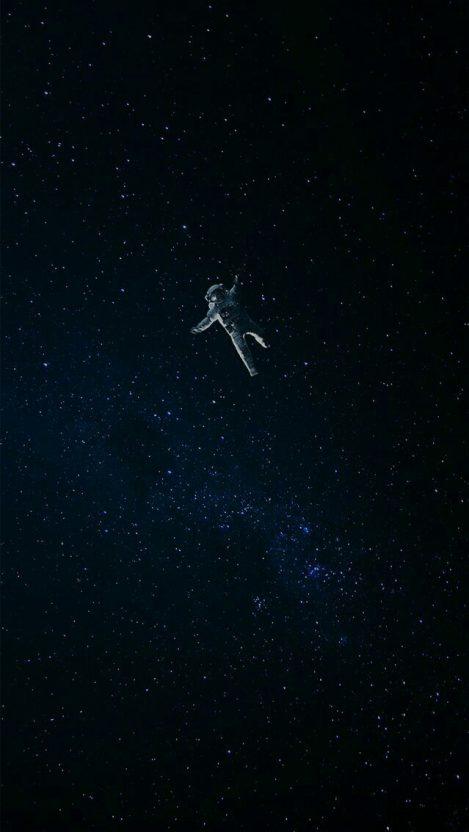 Lost Astronaut in Space iPhone Wallpaper iphoneswallpapers com