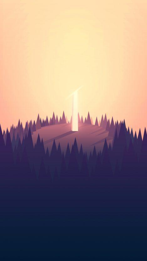 Minimal Art Tower iPhone Wallpaper iphoneswallpapers com