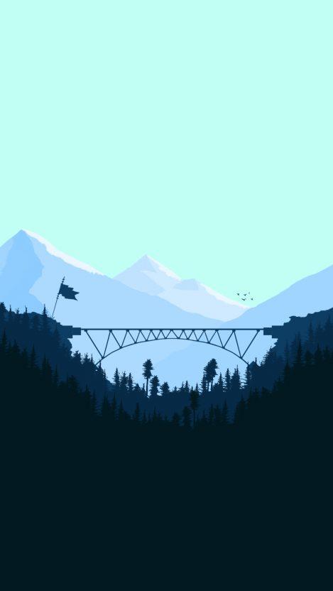 Minimal Bridge Digital Art iPhone Wallpaper iphoneswallpapers com