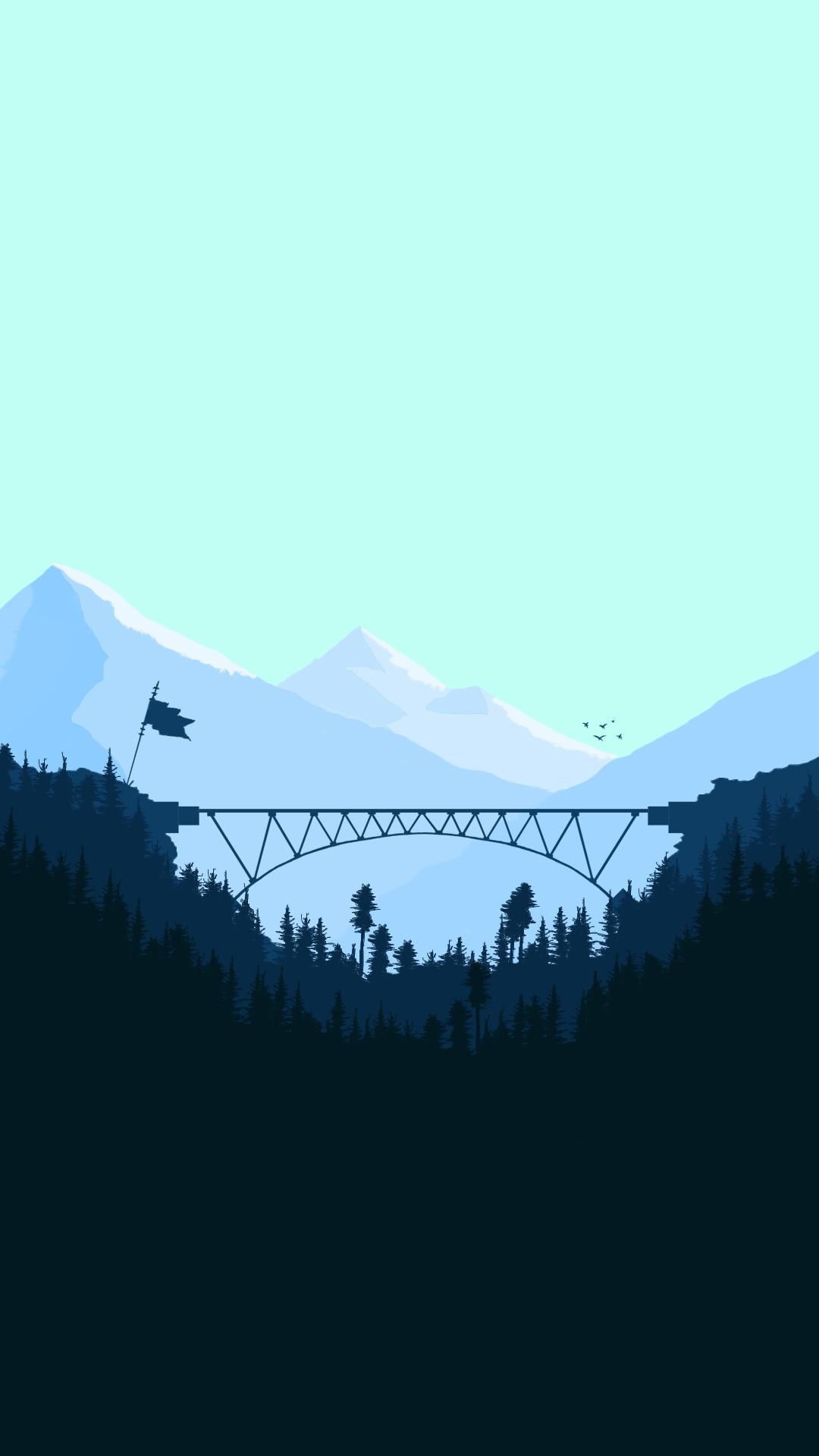 Minimal Bridge Digital Art Iphone Wallpaper Iphone