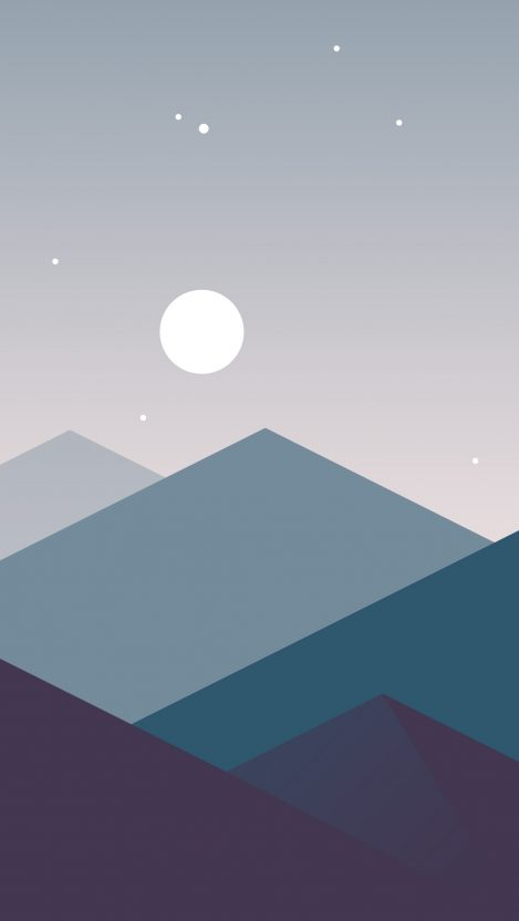 minimalist iphone wallpaper minimalistic mountains moon iphone wallpaper 12634