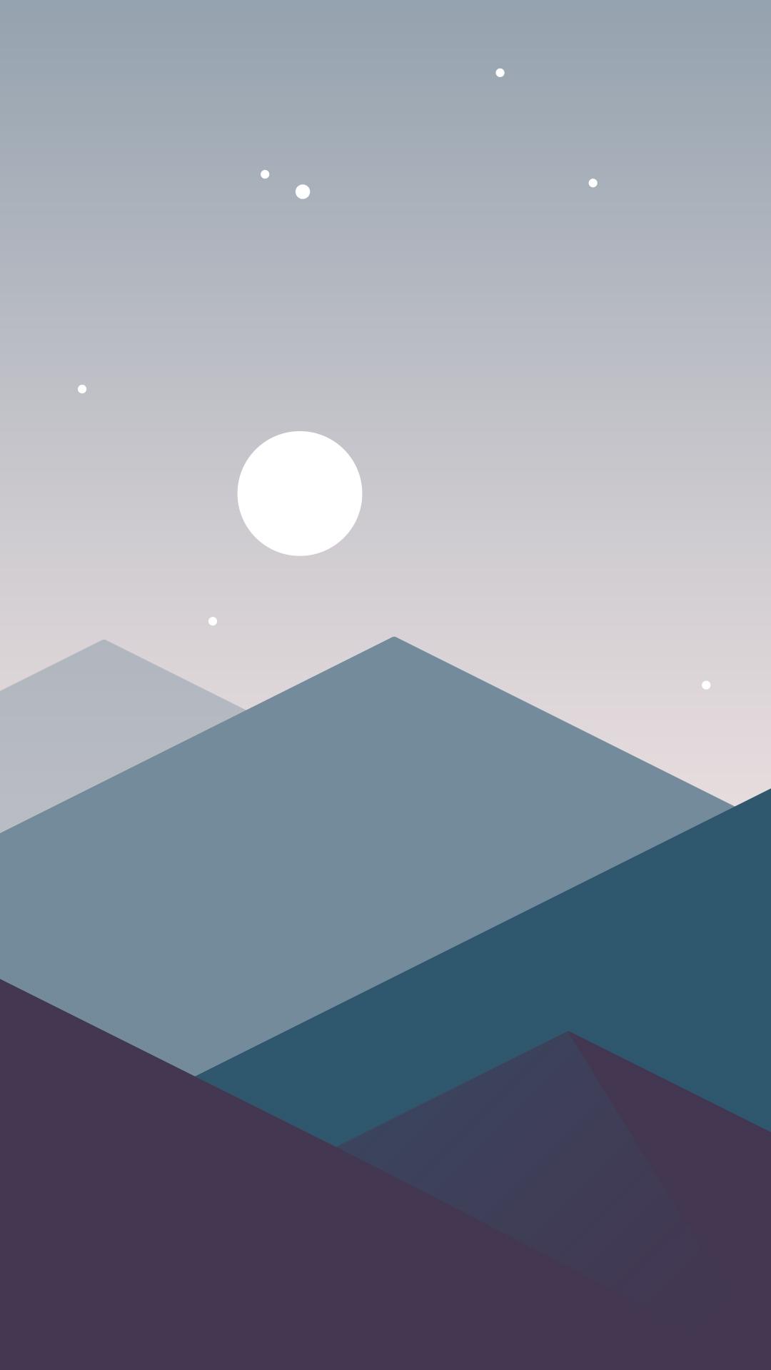Good Wallpaper Mountain Minimalistic - Minimalistic-Mountains-Night-Moon-iPhone-Wallpaper-iphoneswallpapers_com  You Should Have_908062.jpg
