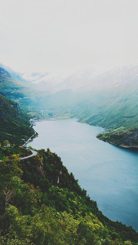 Nature Mountains Lake iPhone Wallpaper iphoneswallpapers com