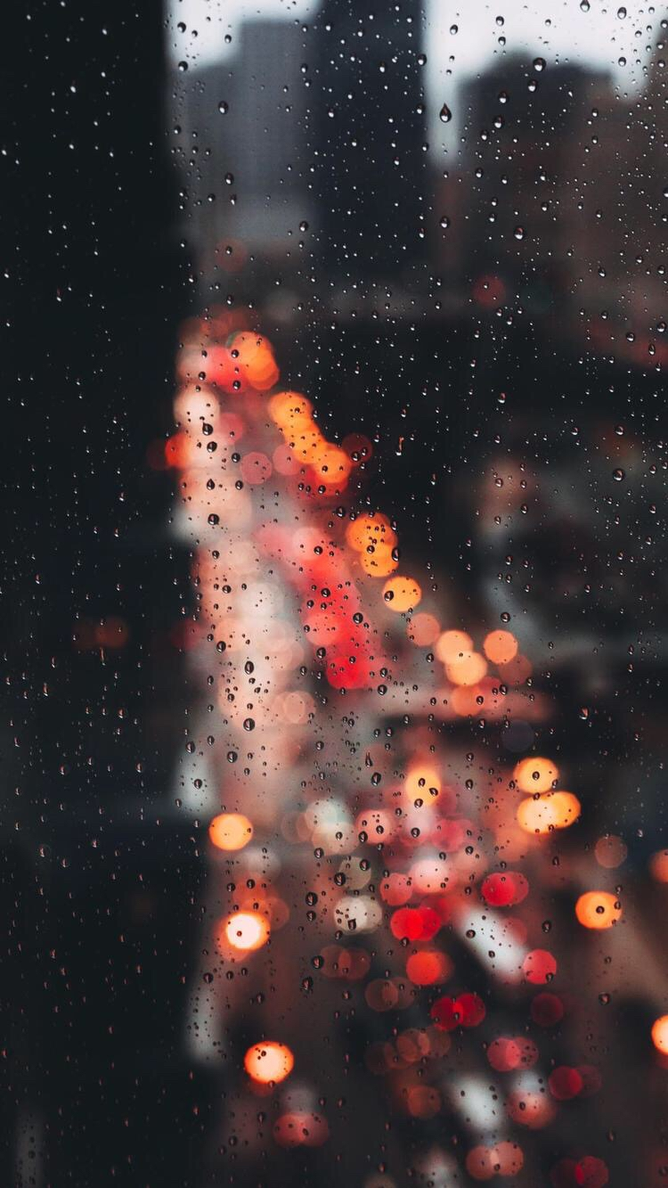 New York Rain Drops iPhone Wallpaper iphoneswallpapers com