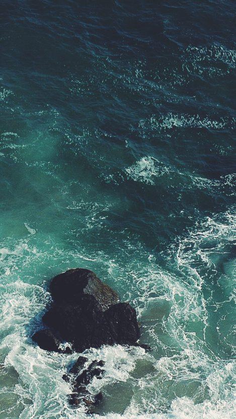 Ocean Rock iPhone Wallpaper iphoneswallpapers com