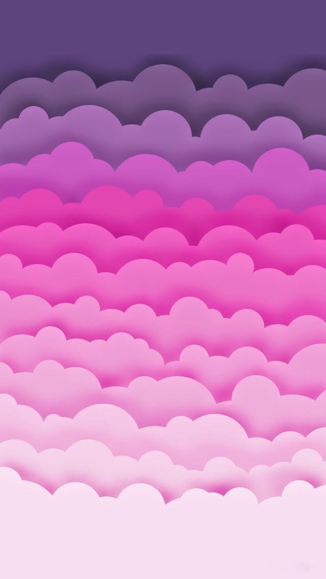 Pink Clouds Artistic iPhone Wallpaper iphoneswallpapers com