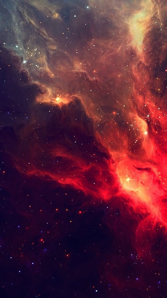 Red Galaxy Nebula iPhone Wallpaper iphoneswallpapers com