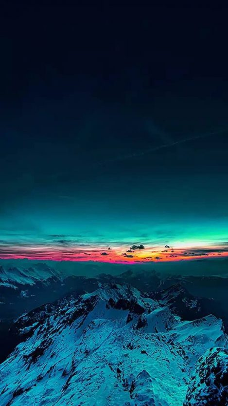 Sunrise From Mountains Amazing Sky IPhone Wallpaper
