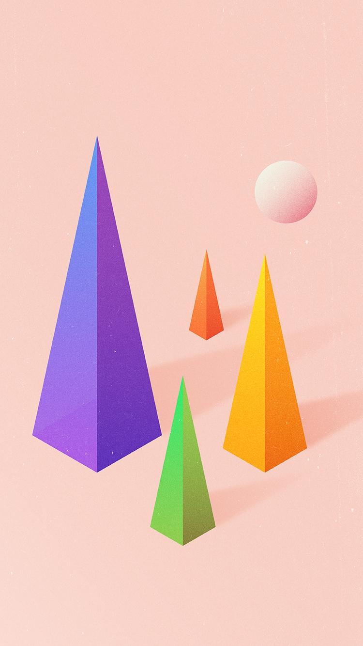 Triangle Blocks Digital Art iPhone Wallpaper iphoneswallpapers com