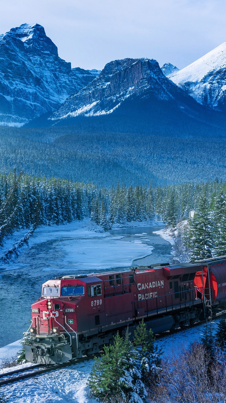 Canadian Pacific Train Winters iPhone Wallpaper iphoneswallpapers com