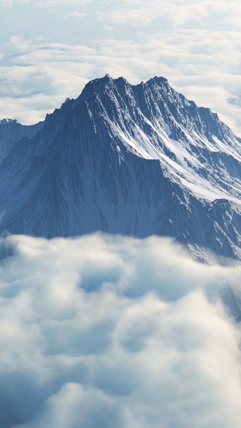 Clouds Over Mountains Nature iPhone Wallpaper iphoneswallpapers com