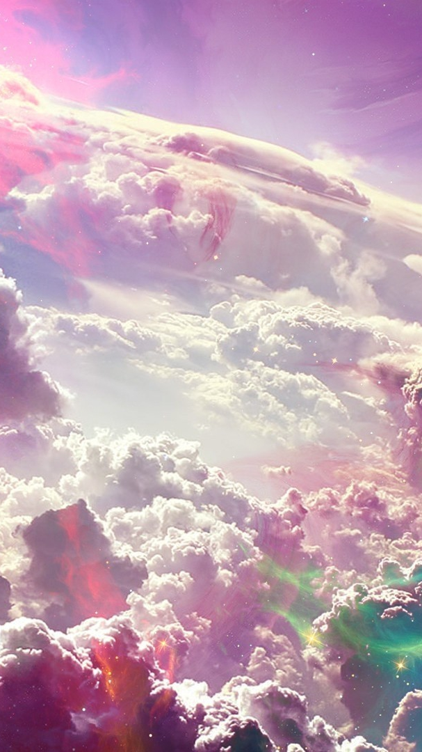 Colourful Clouds Artwork Wallpaper iPhone Wallpaper iphoneswallpapers com