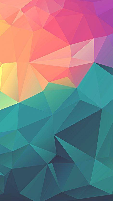 Colorful Polygon Geometric Art IPhone Wallpaper