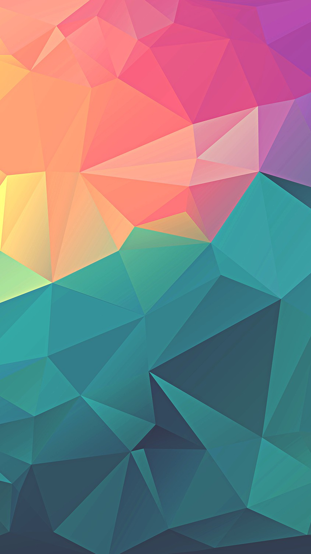 Free Colorful Geometric Wallpaper: Colorful-Polygon-Geometric-Art-iPhone-Wallpaper