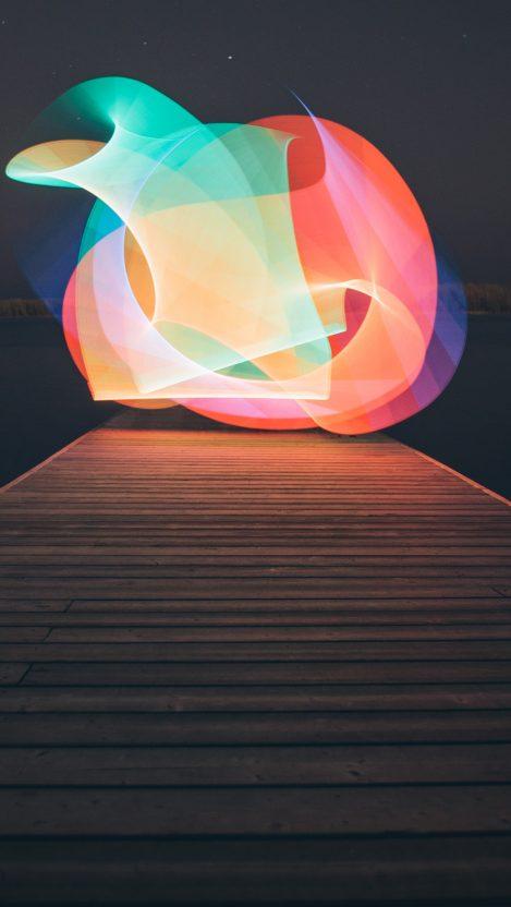 Creative Fireworks in Night Digital Art iPhone Wallpaper iphoneswallpapers com