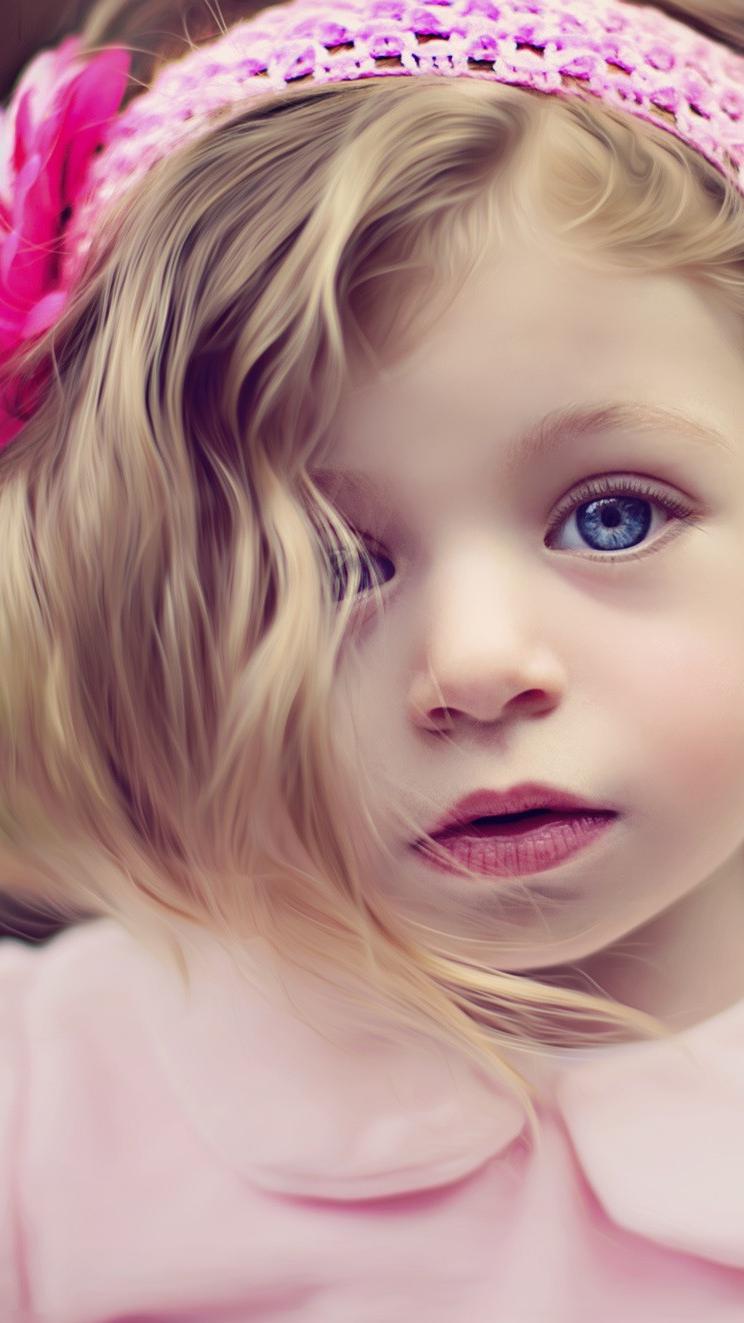 Cute Baby Girl iPhone Wallpaper iphoneswallpapers com