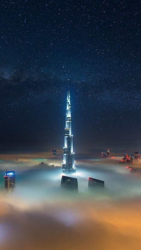 Dubai Burj Khalifa Tower iPhone Wallpaper iphoneswallpapers com