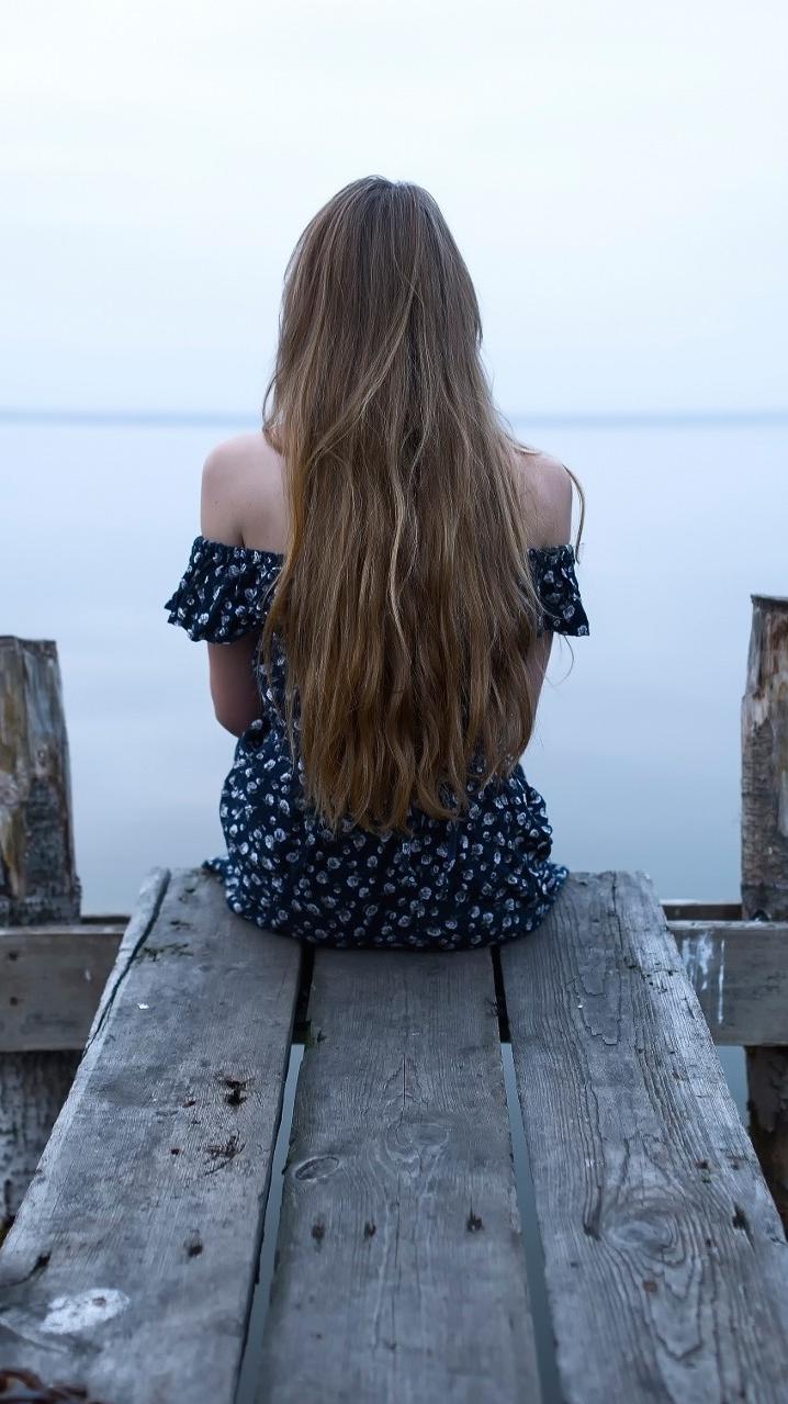 Girl-Sitting-Alone-Wallpaper-iPhone-Wallpaper - iPhone ...