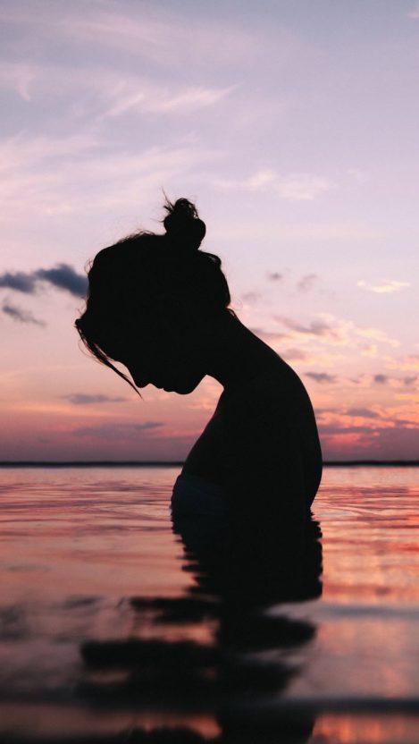 Girl in the Lake Water Wallpaper iPhone Wallpaper iphoneswallpapers com