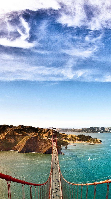 Goldan Gate Bridge Top View Wallpaper iPhone Wallpaper iphoneswallpapers com