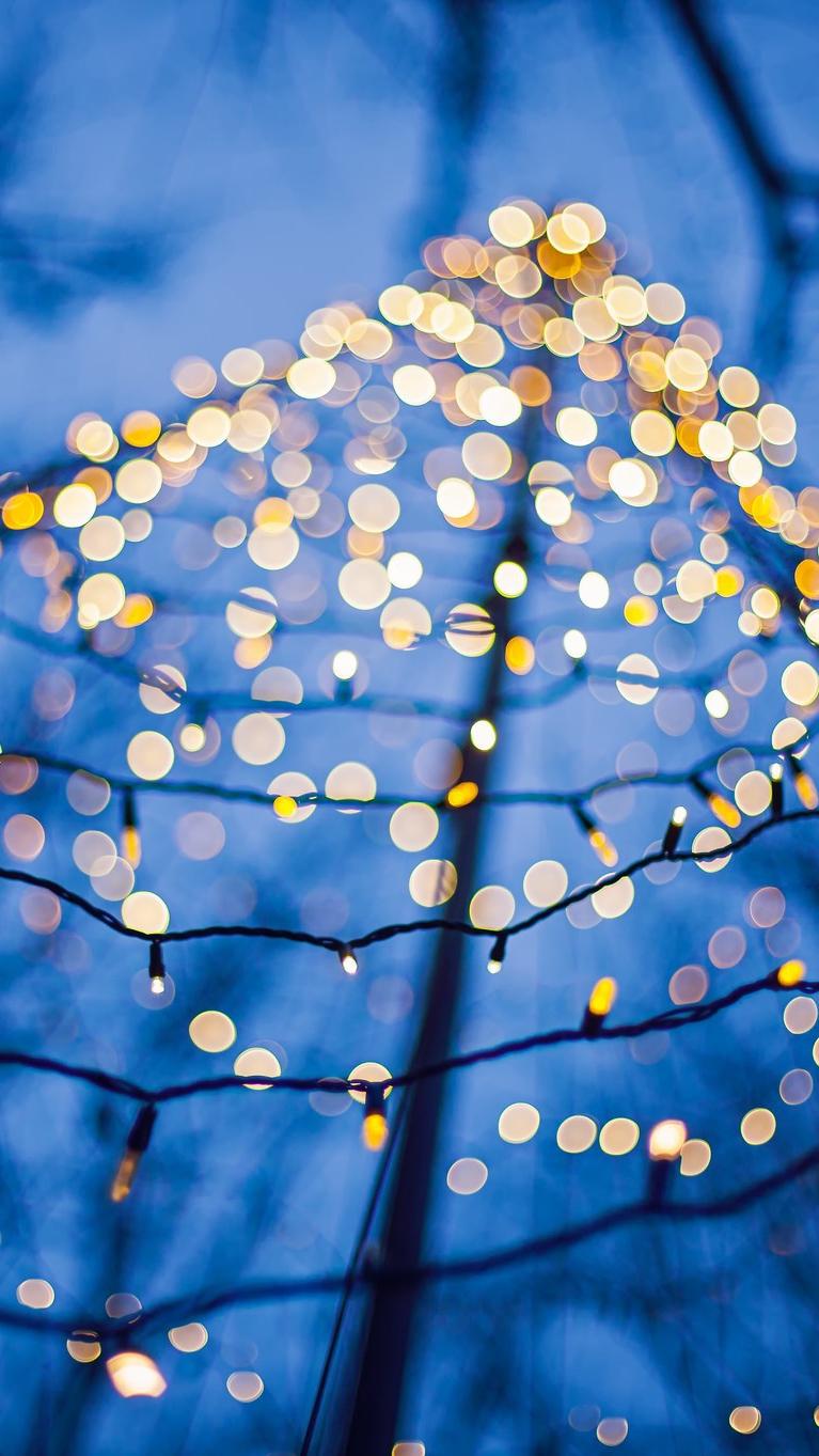 Christmas lights wallpaper iphone