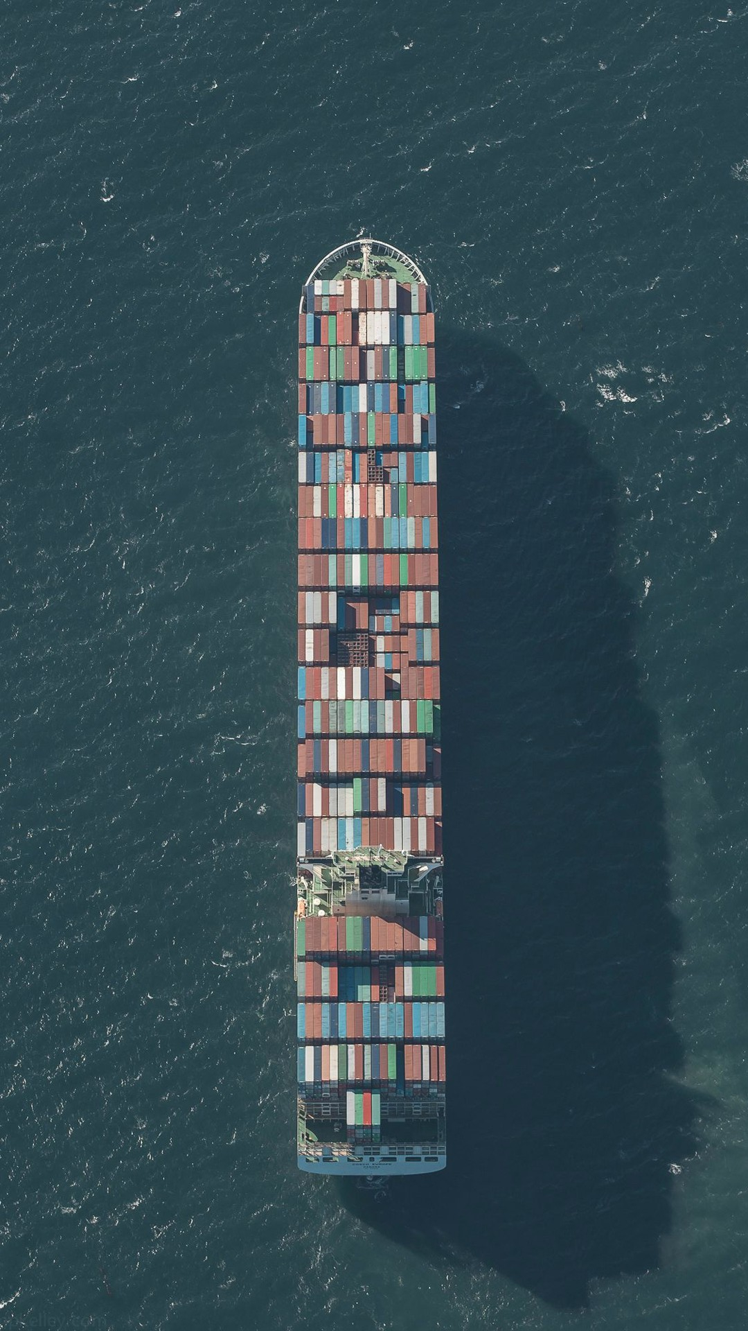 Large Container Ship Minimal iPhone Wallpaper iphoneswallpapers com