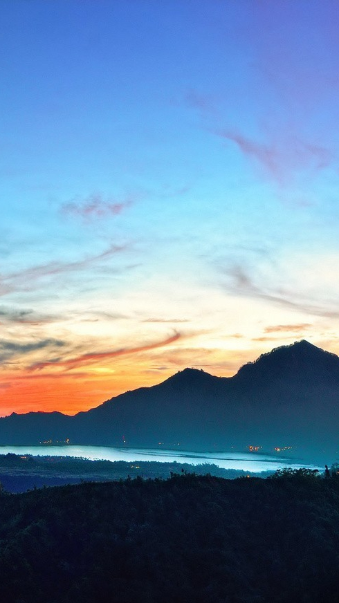 Nature Sunset Mountains Sky iPhone Wallpaper iphoneswallpapers com
