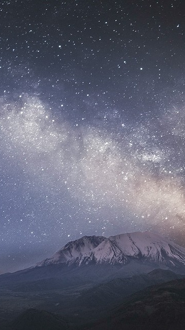 Night Mountains Galaxy View iPhone Wallpaper iphoneswallpapers com