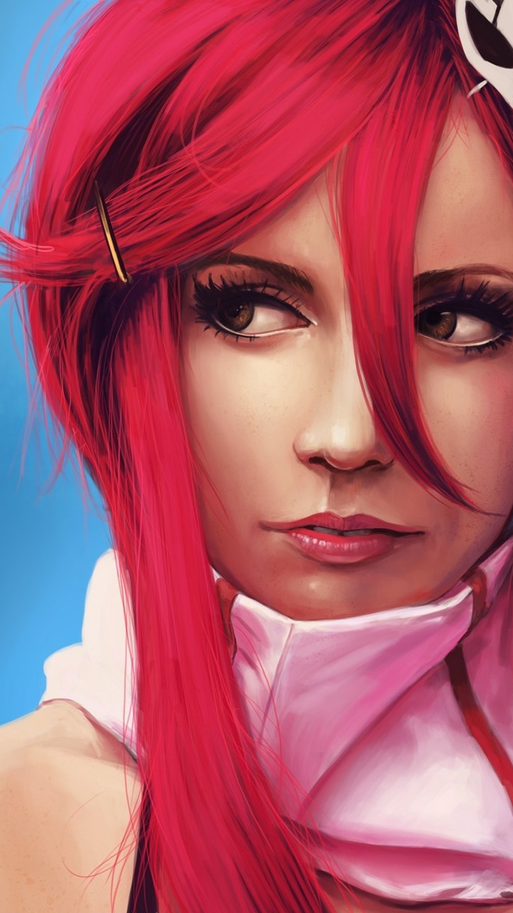 Red Hairs Girl Portrait iPhone Wallpaper iphoneswallpapers com