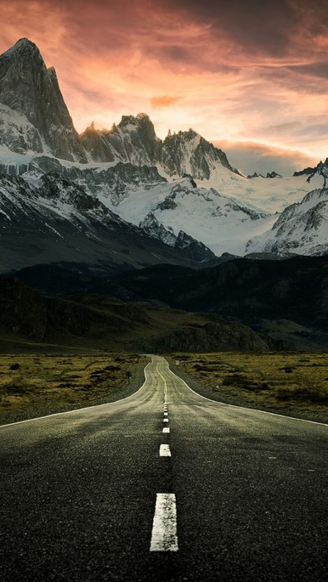 Road to Mountains Alaska iPhone Wallpaper iphoneswallpapers com