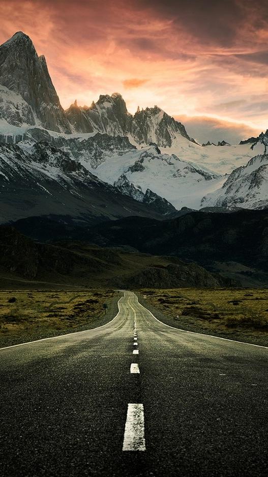 Road to Mountains Alaska iPhone Wallpaper iphoneswallpapers com