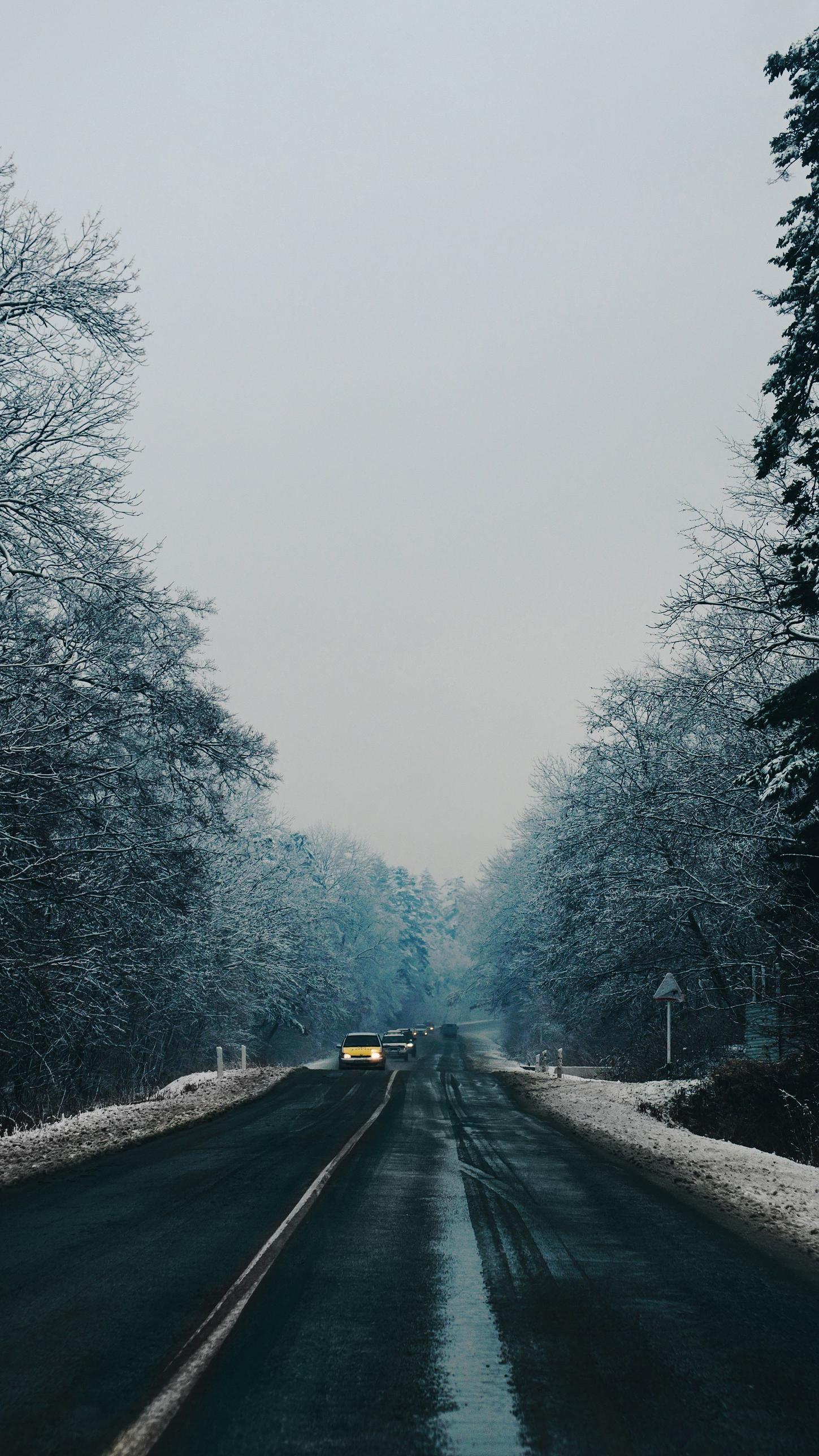 Winter Road iPhone Wallpaper iphoneswallpapers com