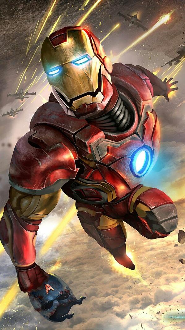 Iron Man Avengers Art iPhone Wallpaper iphoneswallpapers com