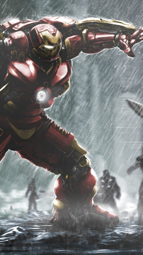 Iron Man Hulkbuster Mark 44 iPhone Wallpaper iphoneswallpapers com