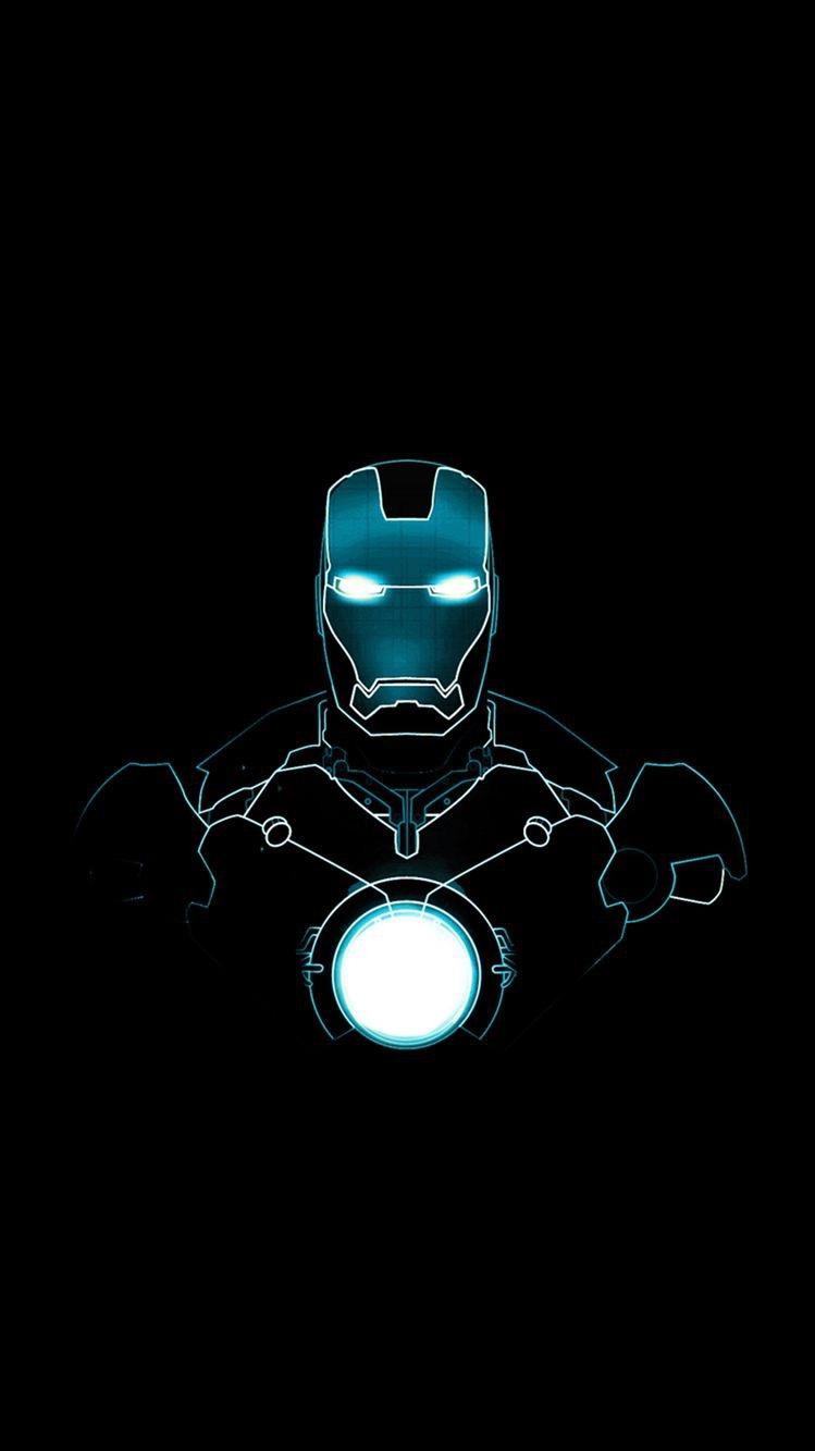 Iron Man Neon iPhone Wallpaper iphoneswallpapers com