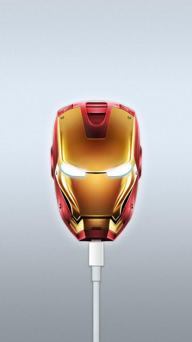 Iron Man USB iPhone Wallpaper iphoneswallpapers com