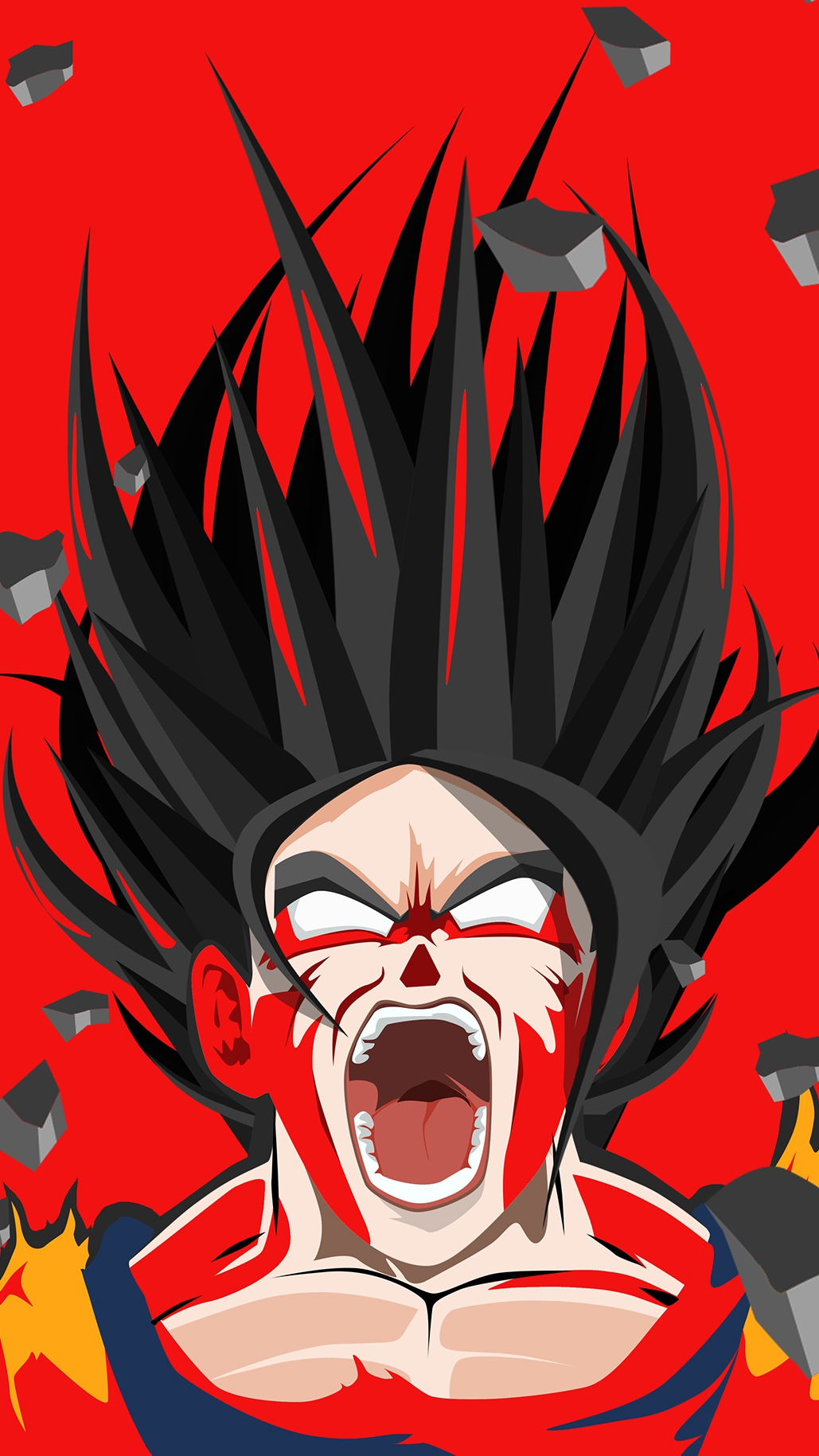 Angry Goku Dragon Ball Z iPhone Wallpaper iphoneswallpapers com