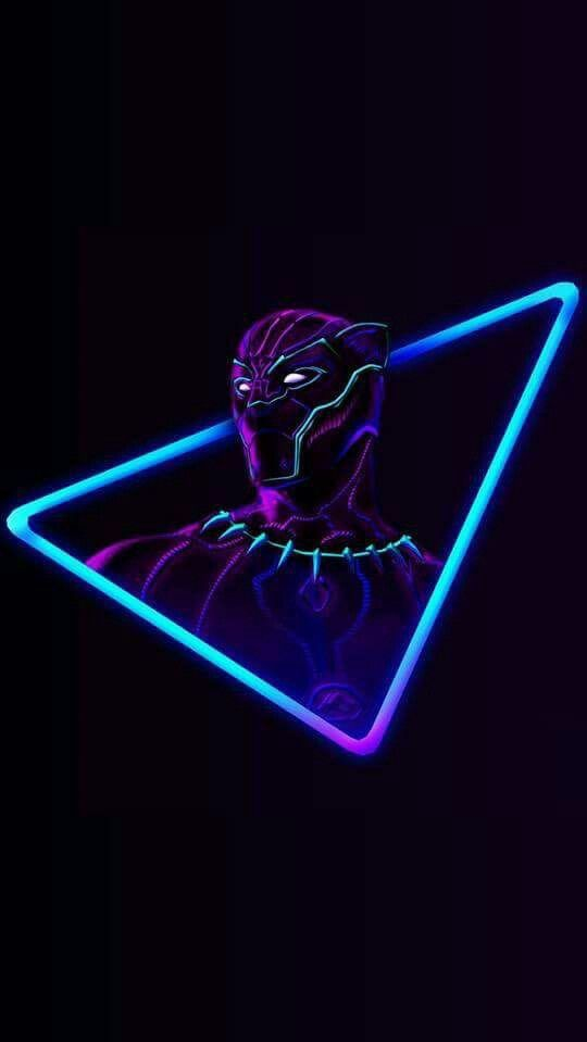 Black Panther Neon Avengers Iphone Wallpaper Iphone
