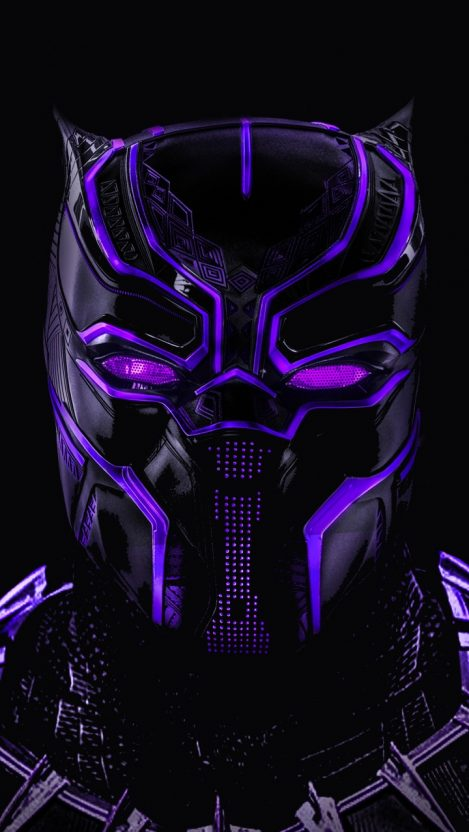 Black Panther Glowing Mask Art IPhone Wallpaper