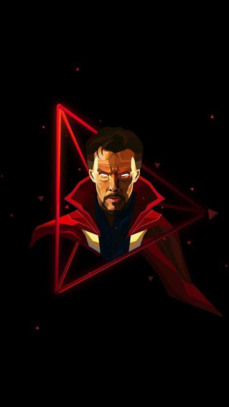 Doctor Strange Neon Avengers infinity War iPhone Wallpaper iphoneswallpapers com