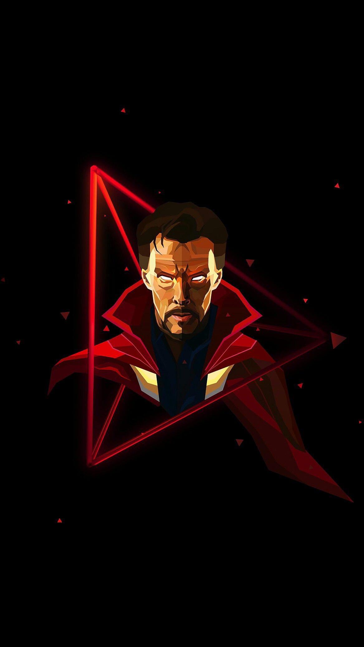 doctor-strange-neon-avengers-infinity-war-iphone-wallpaper - iphone