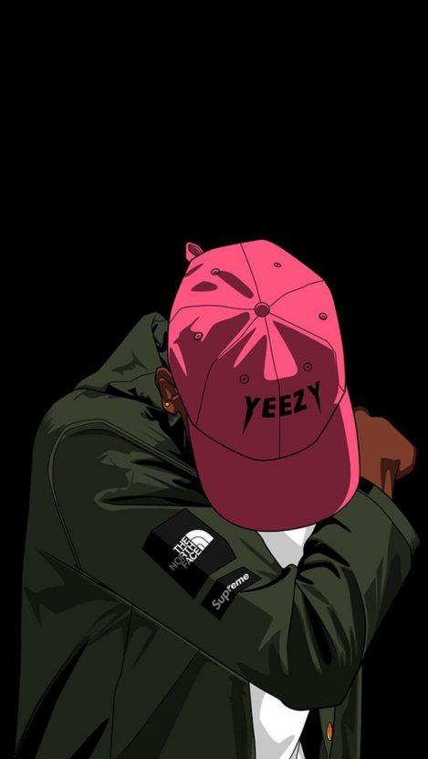 Dope Pink Yeezy Hip Hop IPhone Wallpaper