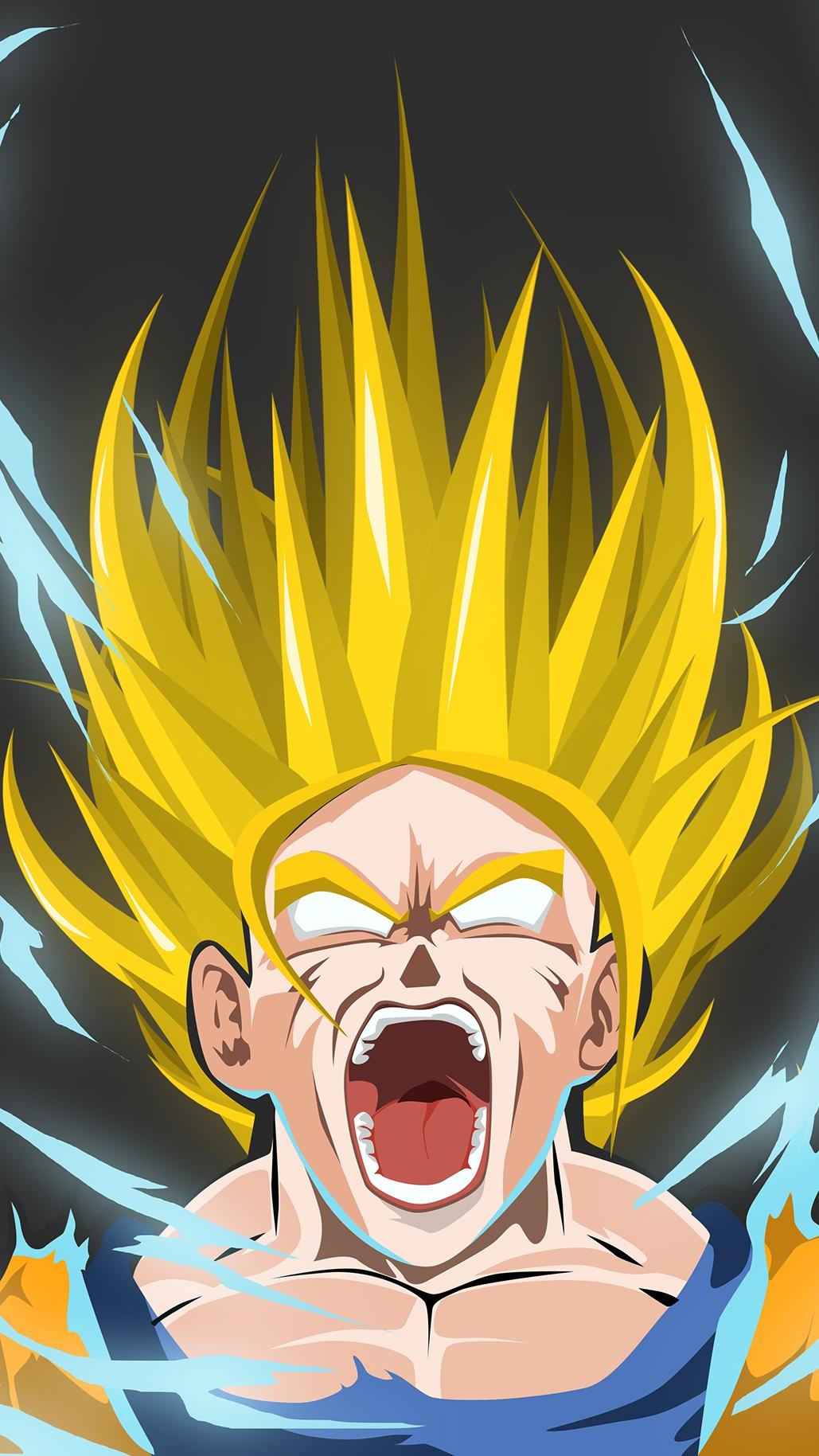 Goku Super Saiyan iPhone Wallpaper iphoneswallpapers com