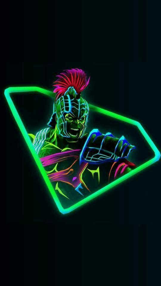 Hulk Neon Avengers infinity War iPhone Wallpaper iphoneswallpapers com