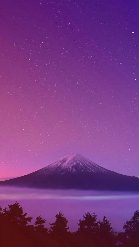 Mount Fuji Japan Sunset IPhone Wallpaper