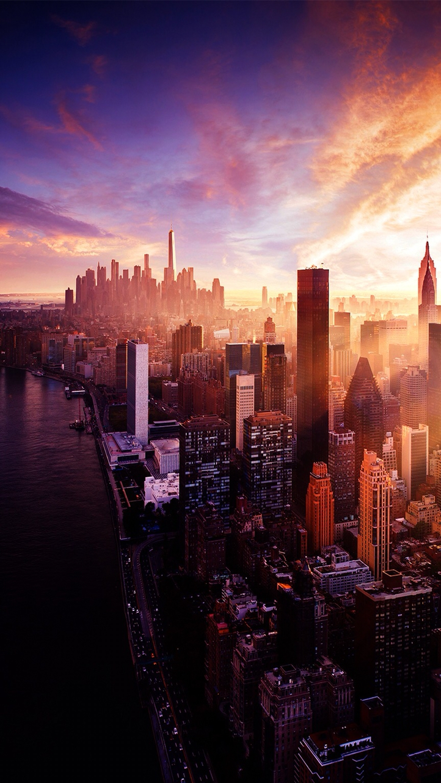 New York City Sunset iPhone Wallpaper iphoneswallpapers com