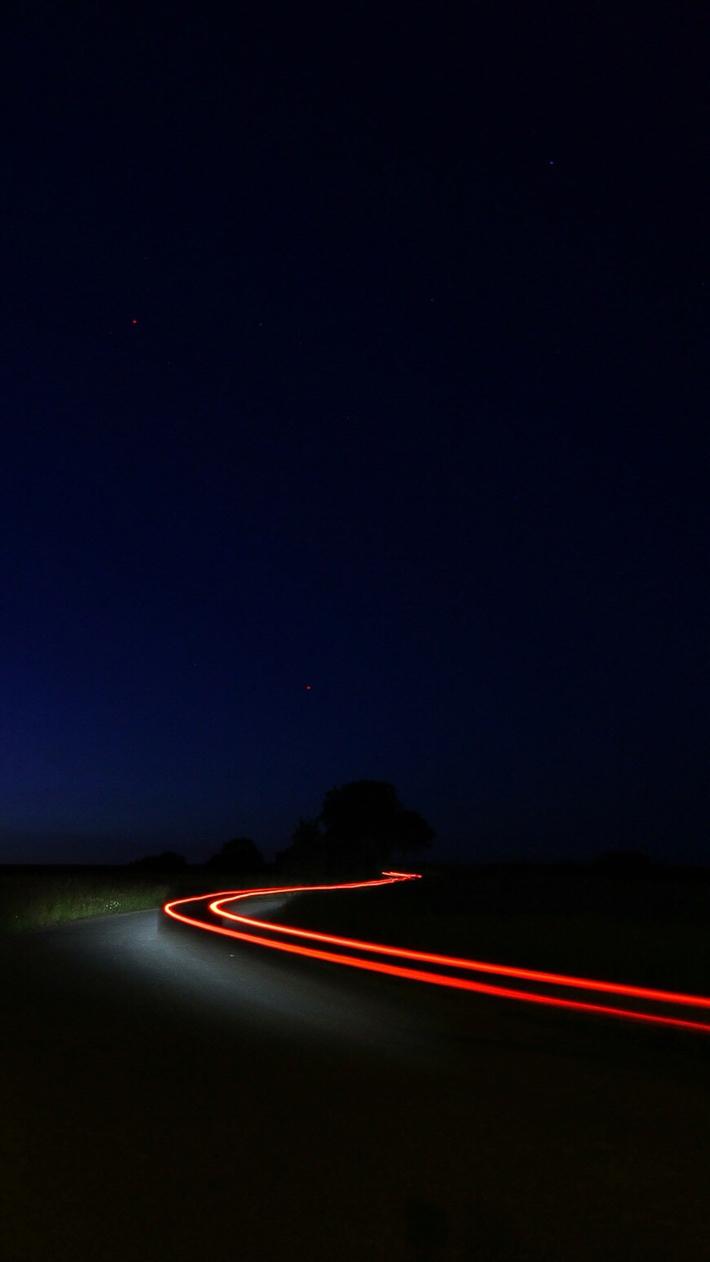 Night Road Vehicle Long Exposure iPhone Wallpaper iphoneswallpapers com