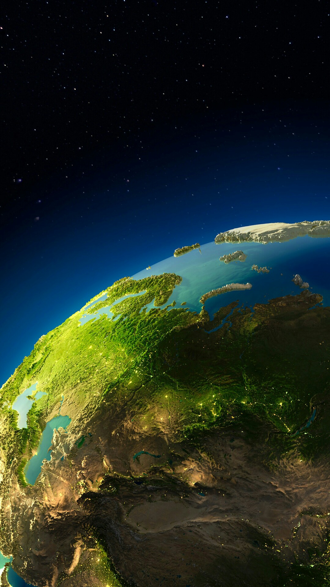 Planet Earth Digital Art 3D iPhone Wallpaper iphoneswallpapers com