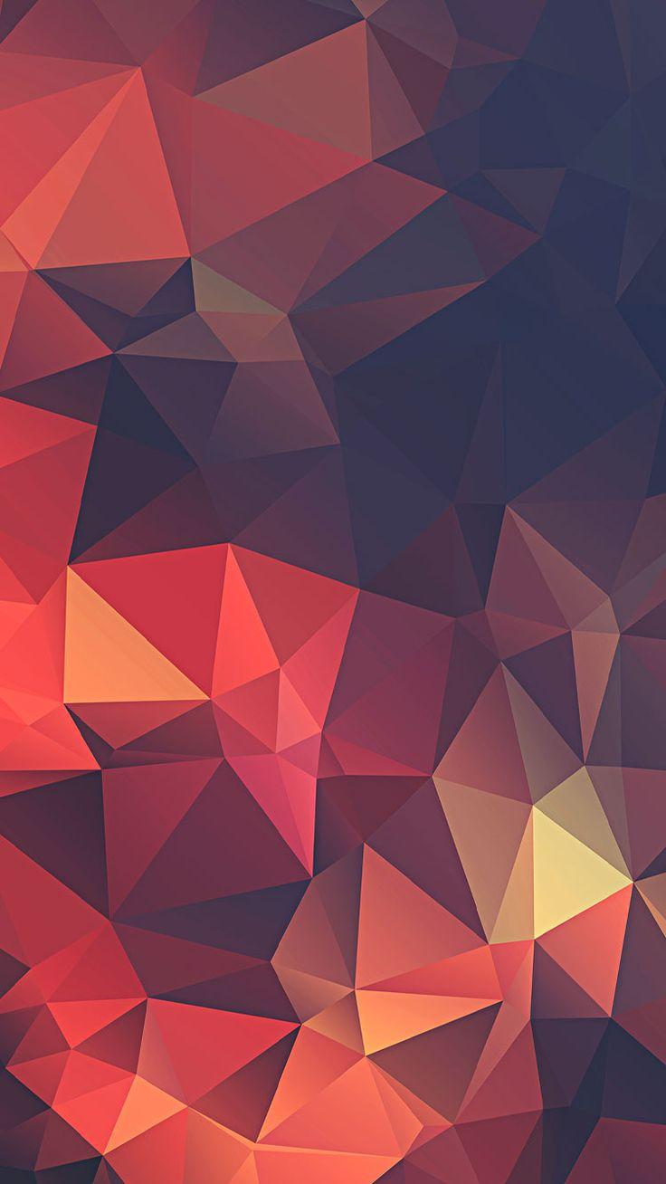 Red Polygon iPhone Wallpaper iphoneswallpapers com