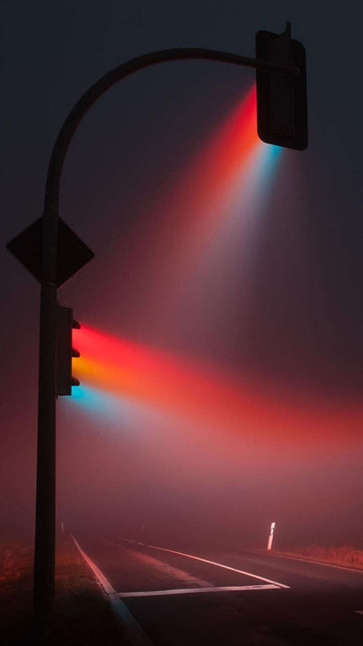 Street Lights in Fog iPhone Wallpaper iphoneswallpapers com